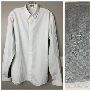 Dior Homme Poplin Dress Shirt w/Wool Sleeves